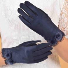 Găng tay nhung chống nắng cảm ứng điện thoại GT019