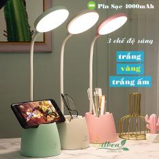 Đèn học để bàn có ánh sáng vàng chống cận thị sạc pin tích điện pin 4000mAh tăng giảm được độ sáng SL-906
