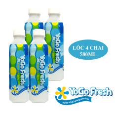 Lốc 4 chai nước uống hương sữa chua YOGOFRESH (580ml) – Nhập khẩu Đài Loan