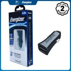 Sạc Energizer UL dùng cho Ô tô 4.8A 2 cổng màu đen – DCA2DUBK3