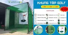 BỘ KHUNG LƯỚI TẬP SWING GOLF TẠI NHÀ/ Golf Practice Net-2.6mx2.6mx2.6m