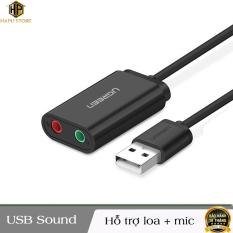 Ugreen 30724 – Cáp USB 2.0 ra Loa và Mic chính hãng
