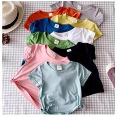 [5 CÁI 5 MÀU] Set 5 chiếc Áo Thun Cotton 5 Màu Khác Nhau Kiểu Dáng Basic Cho Bé Trai/Gái