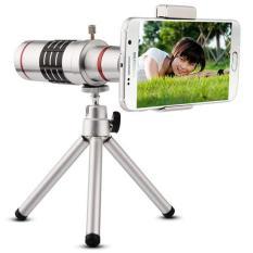 Ống kính lens camera cho điện thoại tele zoom 18x – Có tripod