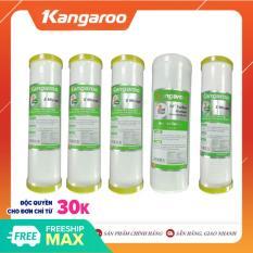 Bộ 05 lõi lọc nước Kangaroo: 3 lõi số 1, 1 lõi số 2, và 1 lõi số 3 – Phụ kiện máy lọc nước Kangaroo