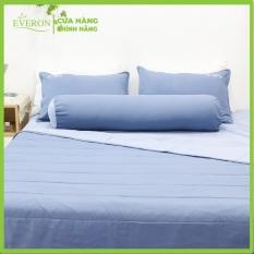 Bộ ga giường Silky Washing Xanh Đậm K-Bedding KSS105 (4 món) gồm 1 ga giường, 2 vỏ gối nằm, 1 vỏ gối ôm | Everon chăn ga gối nệm Hàn Quốc