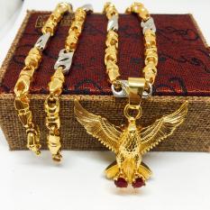 Dây Chuyền Nam Vip Bạc Thái Mạ Vàng, Vòng Cổ Nam Phong Cách | Jewelry Bảo Tín LNMS04 (dây và mặt) ( Màu Vàng)