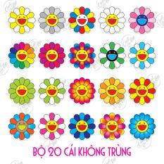 Bộ 20 sticker chủ đề hoa mặt trời Kaikai Kiki BTS vui nhộn chống nước dán điện thoại, laptop, xe đạp, nón bảo hiểm,…