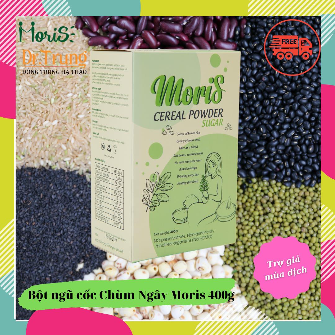 Bột ngũ cốc Chùm Ngây Moris 400g – Giá đặc biệt khi mua cùng Đông Trùng Hạ Thảo Dr. Trung