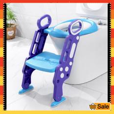 Dụng cụ thu nhỏ bồn cầu cho bé – Bệ lót bồn cầu cho bé thiết kế hình cầu thang – Bệ lót thu nhỏ bồn cầu – Ghế bệ lót ngồi vệ sinh cho bé [GIÁ SỈ]