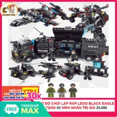 [ MUA 1 TẶNG 3 – CÓ VIDEO] Bộ Đồ Chơi Lắp Ráp Xếp Hình Lego Black Eagle War ( Cuộc Chiến Đại Bàng Đen) CS1006 Children Store 489 Mảnh Ghép, Nhựa ABS An Toàn Cho Bé [TẶNG] 03 Hình Nhân Chiến Binh Trị Giá 25.000