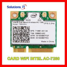 Card WIFI INTEL AC-7260 MiniPCI 2.4Ghz và 5.0Ghz 867M Bluetooth 4.0