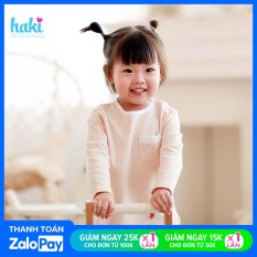 Bộ quần áo thu đông dài tay cài vai Melange Cotton cao cấp HAKI cho bé sơ sinh tới 3 tuổi BC001 (4-15kg)