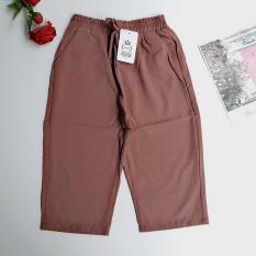 Quần ngố, quần lửng nữ vải đũi xước mềm mát, dài quần 60cm