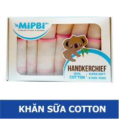 Khăn sữa cho bé sơ sinh Mipbi – Vải cotton Mỹ cao cấp ( Hộp 6 chiếc)