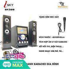 Dàn âm thanh tại gia – Dàn âm thanh giải trí đỉnh cao tại nhà – loa vi tính lớn hát karaoke âm thanh đỉnh cao có kết nối Bluetooth USB Isky – SK328 (Tặng kèm Micro hát)
