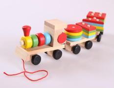 Đoàn tàu xếp hình màu sắc – – Đồ chơi gỗ Mina Shop 038 – Smart Baby