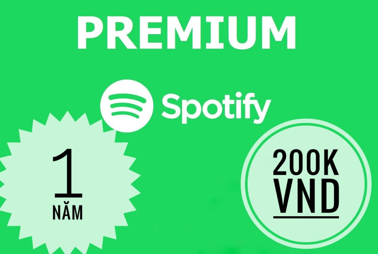 Tài khoản/ Gói nâng cấp Spotify Premium 1 năm giá tốt để nghe nhạc