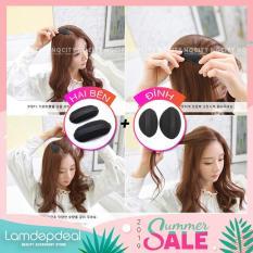 [COMBO GIẢM 12K + MÃ GG] Combo 2 bộ đệm làm phồng tóc đỉnh và 2 bên – cách đơn giản để có mái tóc phồng đáng yêu – Lamdepdeal