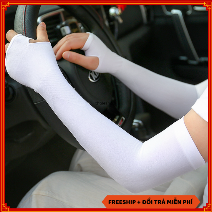 Găng tay chống nắng – Găng tay chống nắng xỏ ngón chống tia UV – Găng tay đi phượt đi xe máy – Bao tay đi phượt [SALE 1 NGÀY]