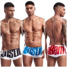 HOT – Quần bơi nam cao cấp SEOBEAN kiểu Boxer thun poly đi bơi – Bikini dây cột bên hông chữ AUSTIN BKNSB810