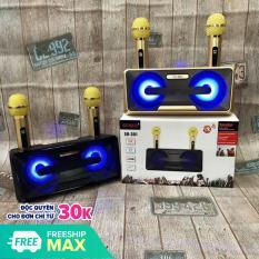 ( Sale 50-)Loa SUB – Loa Bluetooth Karaoke SDRD SD-301+ Kèm 2 Mic Không Dây, Loa karaoke xách tay di động, Loa karaoke bluetooth có giá đỡ điện thoại, Phân Phối Và Bảo Hành 1 Đổi 1 tại Luxurymall