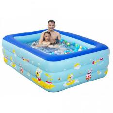 Bể bơi cho bé 3 tầng kích thước 1m5 cho bé, hồ bơi trẻ em to lớn + Keo Vá Bơm Điện