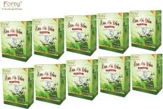 Combo 10 Hộp Rau má đậu Forny 90g (18g x 5 gói) (rau má và đậu xanh giúp đẹp da, mát trong người, giải khát, giải nhiệt, bồi bổ sức khỏe)