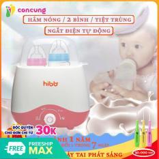 Máy hâm sữa Hibb ,Máy Ủ sữa đôi sưởi ấm, hâm nóng thức ăn tiệt trùng sữa công suất mạnh mẽ ( Bảo hành 12 tháng lỗi 1 đổi 1 trong 7 ngày )