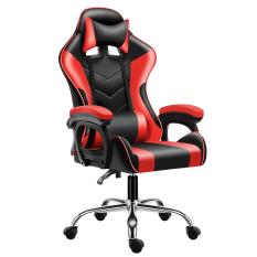 Ghế gaming cao cấp dành cho game thủ chân xoay 360 độ,ngả 135 độ model mới E-02S (RED)