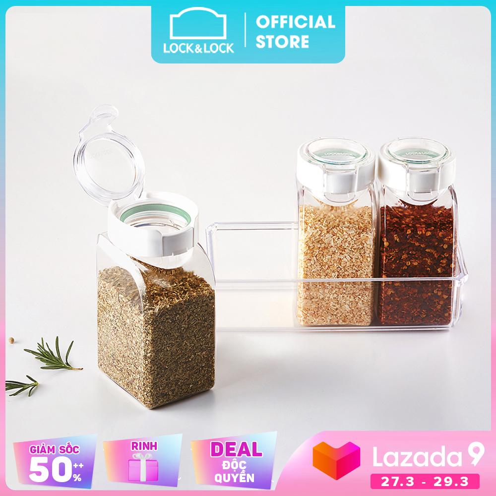 Bộ 3 hũ đựng thực phẩm khô có gioăng Lock&Lock HTE500NS3 380ml