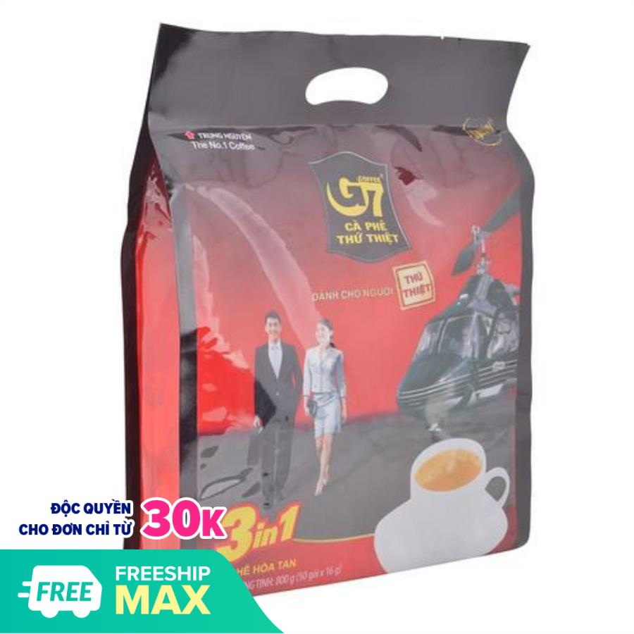 [Freeship 20k cho đơn hàng từ 69k] Cà phê sữa G7 3in1 Trung Nguyên (51 Gói)