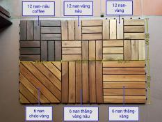 Sàn gỗ tự nhiên vỉ nhựa