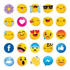 Bộ 25 sticker biểu cảm mạng xã hội ngộ nghĩnh chống nước dán điện thoại, laptop, xe đạp, nón bảo hiểm,…