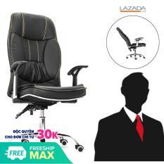Ghế da Giám đốc – Ghế Trưởng phòng Box – TP002 Leather chair [Ngả sâu 155 độ nghỉ trưa]