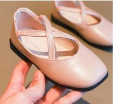 Giày búp bê da cho bé gái, chất PU êm mềm