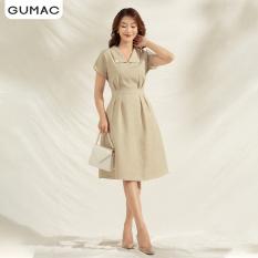 Đầm GUMAC DA1102 thiết kế cổ lật ly mở