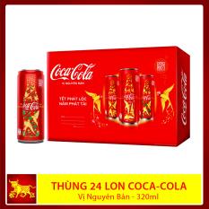 Thùng 24 lon x 320ml Coca Cola vị nguyên bản – Quà Tết Tân Sửu 2021