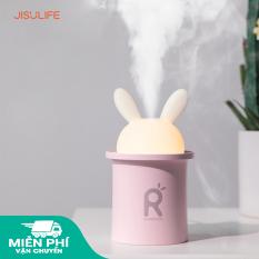 Máy phun sương tạo ẩm Jisulife JT03 – Tạo ẩm không khí và giữ ẩm da 250ml – Thiết kế hình thỏ đáng yêu và tự động tắt khi hết nước – Máy tạo ẩm không gian thư giãn kiêm đèn ngủ LED để bàn tiện lợi – Bảo hành 12 tháng chính hãng