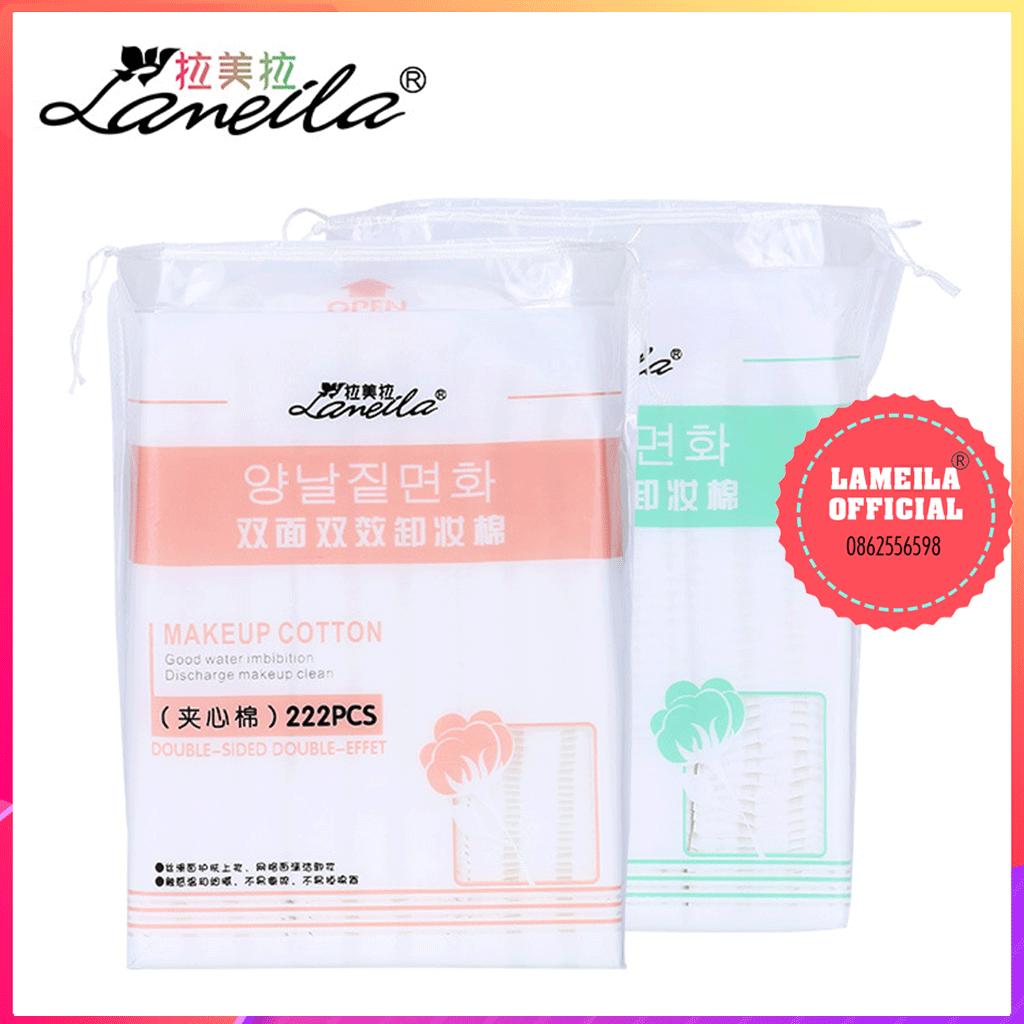 Bông tẩy trang Lameila 222 miếng chính hãng