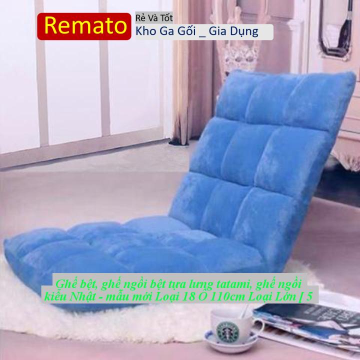 Ghế bệt, ghế ngồi bệt tựa lưng tatami, ghế ngồi kiểu Nhật – mẫu mới Loại 18 Ô 110cm Loại Lớn [ 5 MÀU ]