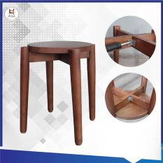 Ghế đẩu tròn tự lắp ráp POSA cao 35 cm