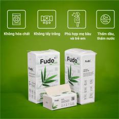 Khăn giấy tre Fudo – 8 gói giấy rút (2 Túi) – Giấy ăn Fudo: 100% bột tre, không tạo mùi, không tẩy trắng