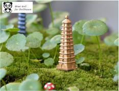 Bộ 02 Chùa tháp trang trí tiểu cảnh bonsai handmakestore
