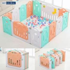 Quây cũi nhựa sắc màu cho bé gấp gọn BR9505 – 14 cạnh