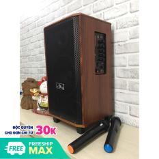 Loa kéo di động karaoke Kiomic K88, 2 mic thùng gỗ hát siêu hay