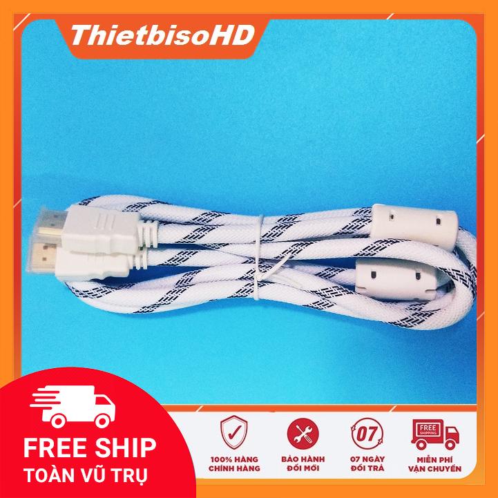Dây HDMI 1,5m bóc hộp máy tính tròn Full HD bọc dù,chống nhiễu – cable HDMI 1,5m