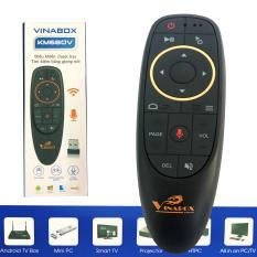 Điều Khiển giọng nói Vinabox KM680V PRO – Tích hợp MIC VOICE, Học lệnh Hồng ngoại dùng cho Android box , Android TV