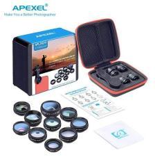 Bộ ống kính, lens chụp ảnh apexel dành cho điện thoại APL-DG10 10 IN 1 – Ống kính macro