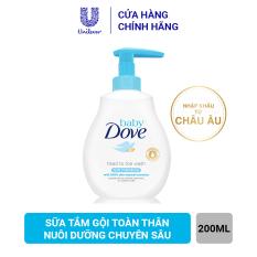 Sữa tắm gội toàn thân Baby Dove Nuôi Dưỡng Chuyên Sâu 200 ml